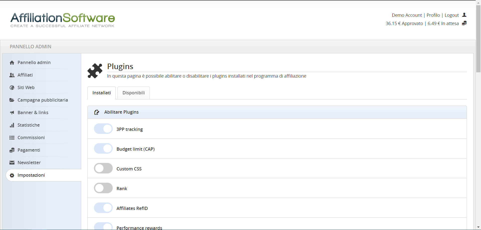 AffiliationSoftware plugins